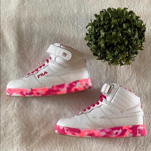 *Fila* Girls Camo Pink High Top Sneaker Size: 13